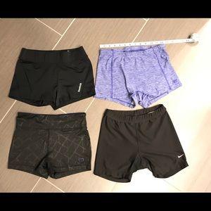 Spandex shorts bundle - 4 pair
